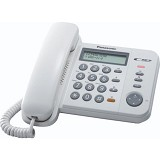 PANASONIC Corded Phone [KX-TS580] - White - Corded Phone